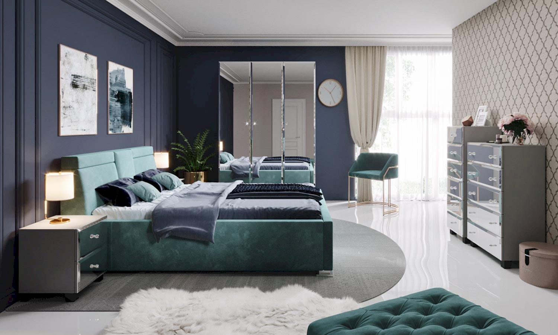szafa biała z lustrem Bellagio