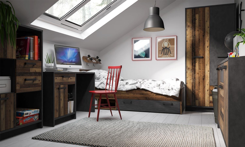 sypialnia z biurkiem NUBI