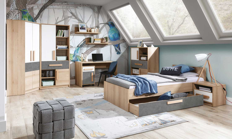 sypialnia z biurkiem AYGO