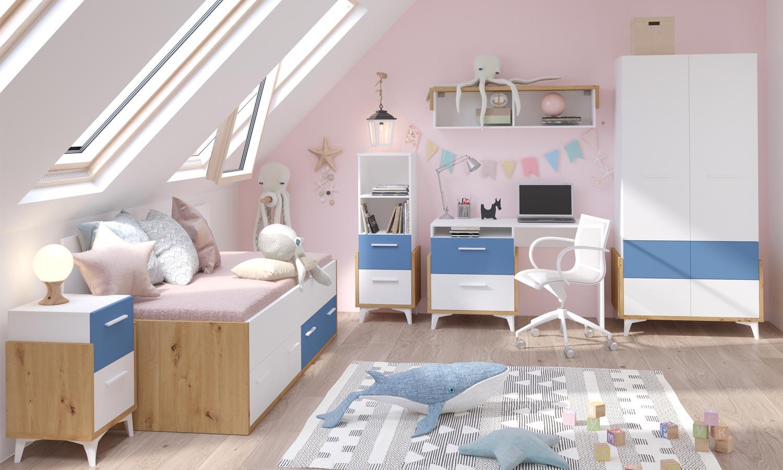 sypialnia z biurkiem  HEY