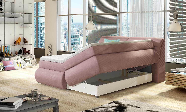 Łóżko do małej sypialni BOX SPRINGS