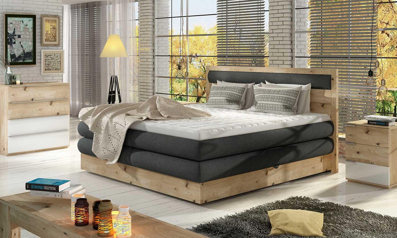 Łóżka Box Springs Wood