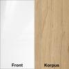 Biały połysk (front) + Artisan (korpus)