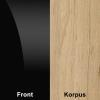 Czarny połysk (front) + Artisan (korpus)