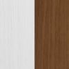 Sosna barwiona na biel + Orzech struktura