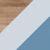 Sonoma Jasna + Błękit + Niebieski