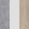 Beton + Biały Lux + Dąb