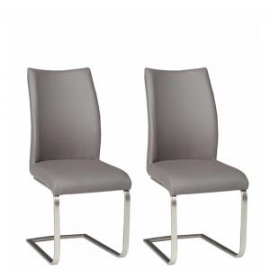 Krzesła Liguria MET-U02GR (komplet 2szt.)